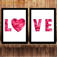 Love Quote Canvas Painting Art Print Poster Wall Pictures For Chilod Room Home Decoration Print On