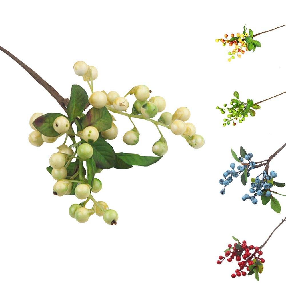 Artificial berry fruit diy flowers blue Christmas home wedding decorative artificial flower arrangement fake