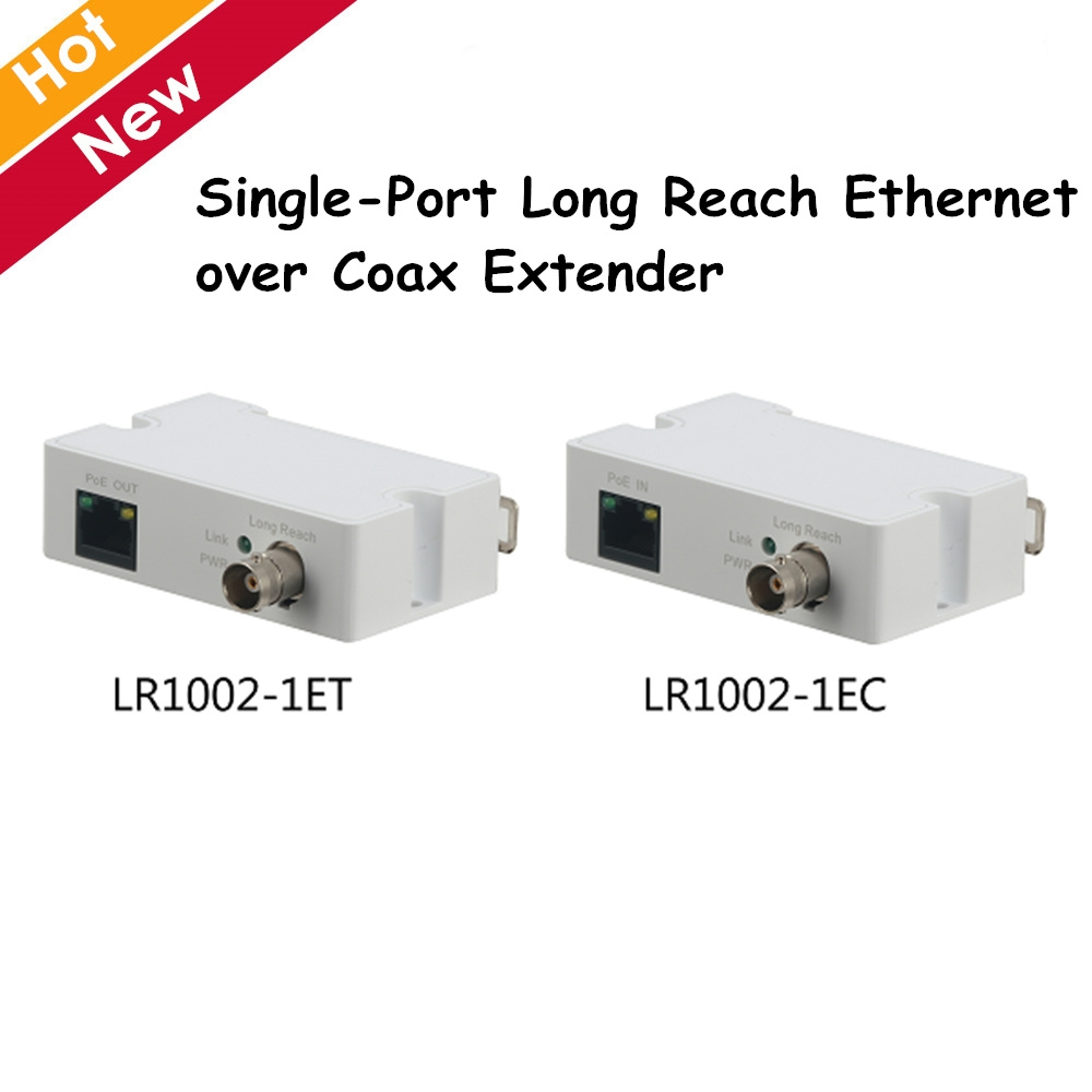 DH Single-Port Long Reach Ethernet over Coax Extender LR1002-1ET LR1002-1EC 1 RJ45 10/100Mbps 1 BNC ip accessory sihaixin wood watches men business luxury stop watch with stainless steel case wooden chronograph military quartz red wristwatch