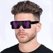 acd98efa28 Nuevo 8 modos rápida Flash LED gafas de fiesta luminoso gafas iluminación  brillante clásico Cahristmas juguetes Dropshipping. ex.