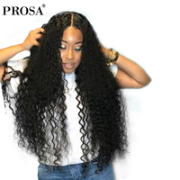 Full Lace Human Hair Wigs Glueless Full Lace Wigs Human Hair With Baby Hair 130% Density Brazilian Curly Lace Wig Prosa Remy