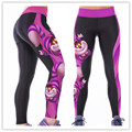 High Waist Women  Work Out Pants Cheshire Cat Skinny Stretch Leggings