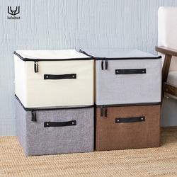 Luluhut no tejida caja de almacenamiento plegable bra ropa interior calcetines contenedor cajón organizador artículos ropa Casa de almacenamiento de edredón de ahorro