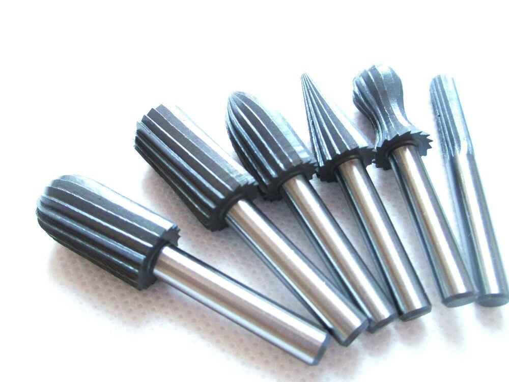 6pcs Carbide Cutter Rotary Burr Set CNC Engraving Bit Rotary File Bur Burr Tool