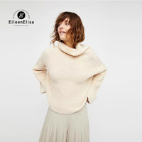 Turn Down Collar Sweater Women Autumn Sweater Outwear And Pullover Oversized