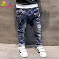 Enbaba мальчиков джинсы 2016 случайный весна осень новые джинсы для мальчиков детей одежда мальчиков джинсовые брюки молнии детей брюки гарсон