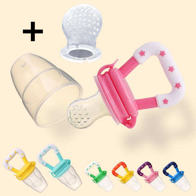 New Fresh Food Nibbler Baby Pacifiers Feeder Kids Fruit Feeder Nipples Feeding Safe Baby Supplies Nipple Teat Pacifier Bottles