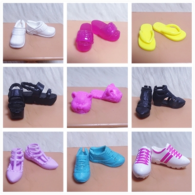 2019 Original 1 Pair Flat 1/6 Doll Shoes Single Shoes, Flat Feet, Sneakers, Sandals, Slippers Flats For Barbie Doll Shoes 1/6