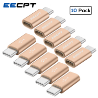 EECPT 10 Pack OTG Typ C Adapter USB C zu Micro USB OTG Kabel Typ-C Adapter Stecker für macbook Samsung S9 S8 Huawei P20 P10