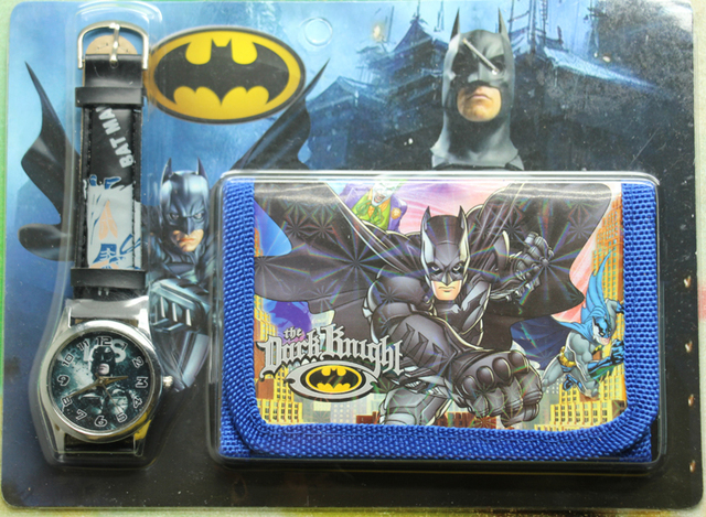 2017 new 1pcs/lot batman Watch with wallet,birthday gift for children Y005