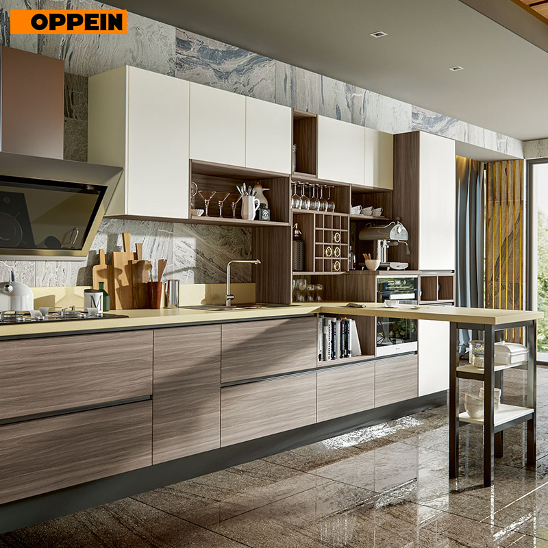 OPPEIN Modern Style Modular Kitchen Designs For Small Kitchens, Modern Kitchen Furniture (PLCC17011)