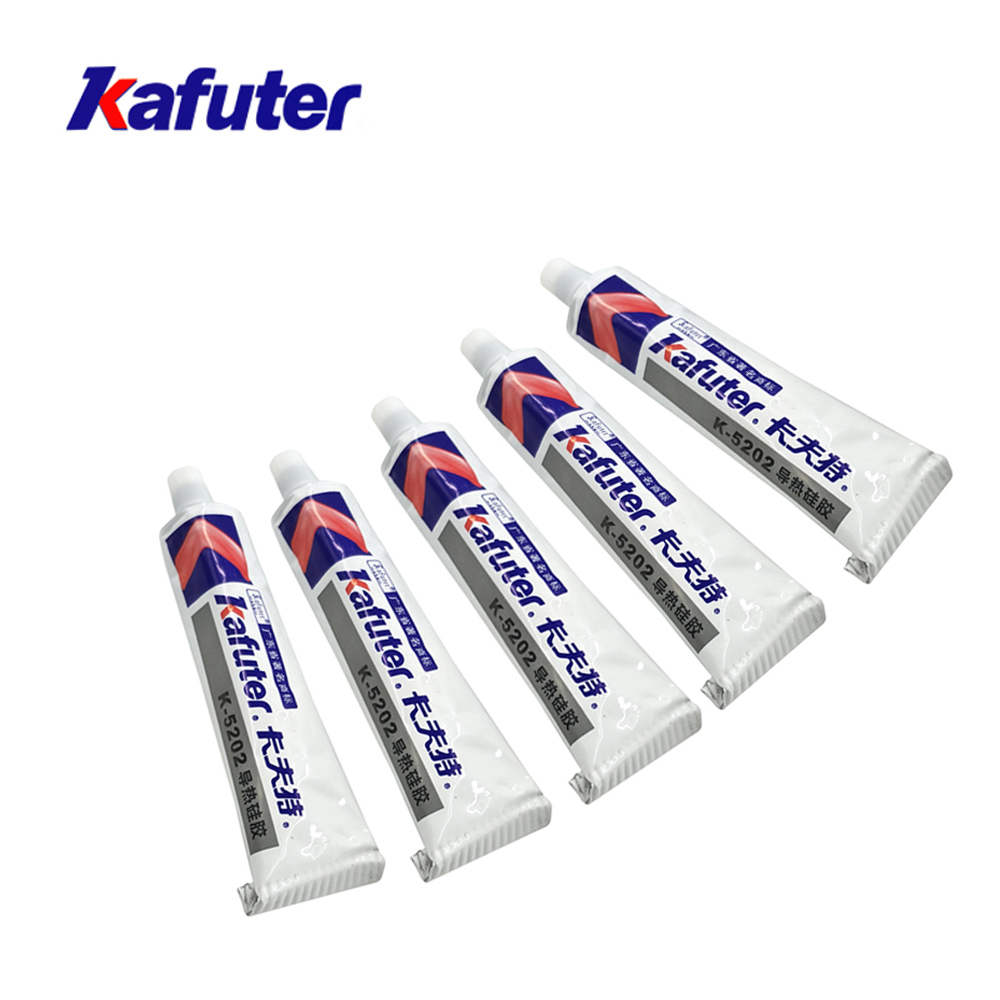 Kafuter 80g K-5202 High temperature resistant Thermal Grease Heat Sink Paste For LED Light CPU PCB COB Chips Special GlueKafuter 80g K-5202 High temperature resistant Thermal Grease Heat Sink Paste For LED Light CPU PCB COB Chips Special Glue