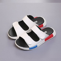 Kids Leather Slippers Children Classical Solid Soft Flip Flops Boys Beach Shoes Sandalen Breathable for Bathroom