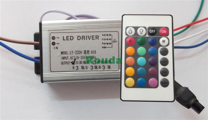 10w floodlight RGB Waterproof LED Driver Transformer AC100V 265V for 10W RGB LED Light