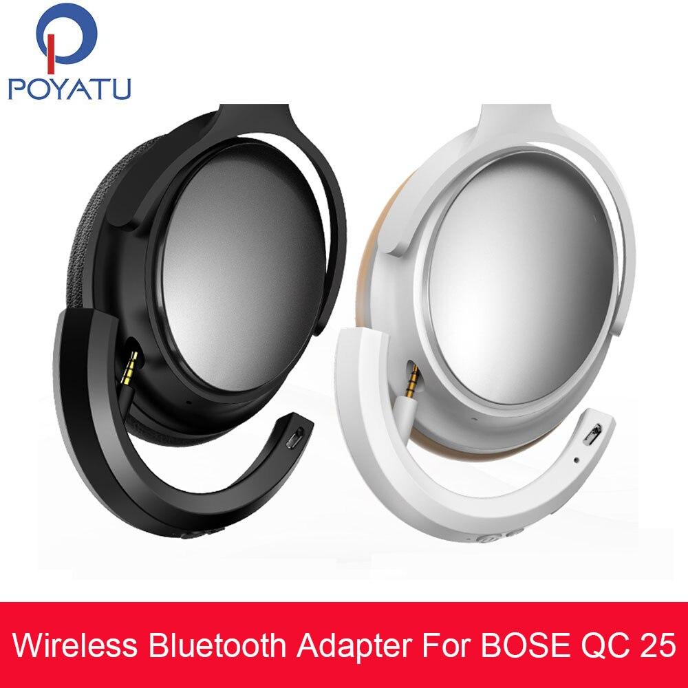 Poyatu adaptador sem fio bluetooth para bose qc25 qc 25 fones de ouvido sem fio bluetooth receptor para bose quietcomfort 25 aptx