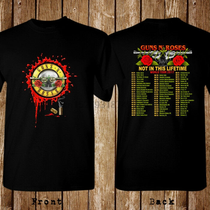 Guns N Roses Axl Rose Stage Concert Live Pic Black T Shirt New Official Tour