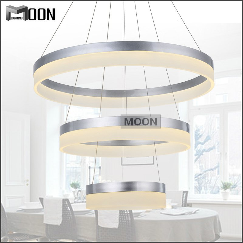 2015 New Real Down Trends Led Chandelier Acrylic Round Light Fixture Diy Style Wire Adjustable Lamp For Hotelliving Dining Room In Chandeliers From Lights