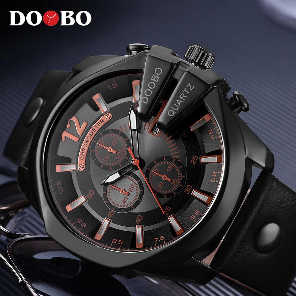 Relogio Masculino, большой циферблат, мужские часы DOOBO, Топ люксовый бренд, черные кварцевые военные наручные часы, мужские часы, мужские спортивные часы, Новинка
