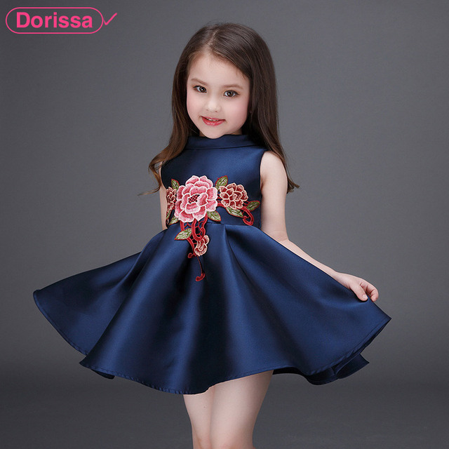 c13650429f67 2016 New Arrival Embroidery Flower Girl Party Dresses High Quality ...
