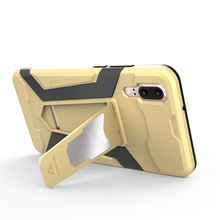 Cyato Newest Car Man Magnetic Hybrid Kickstand Cover For Huawei P20 Case Hard PC+TPU Silicone lite/P20 Pro Cases