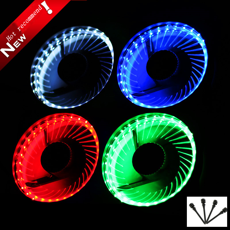 CoolerAge 32 Lights LED Silent 120mm Fan PC Computer Chassis Fans Case Heatsink Cooler Cooling Fan Red Green Blue White Fan controller water cooler pl 12025 120 mm led case fans 4 pin pwm control red green blue white