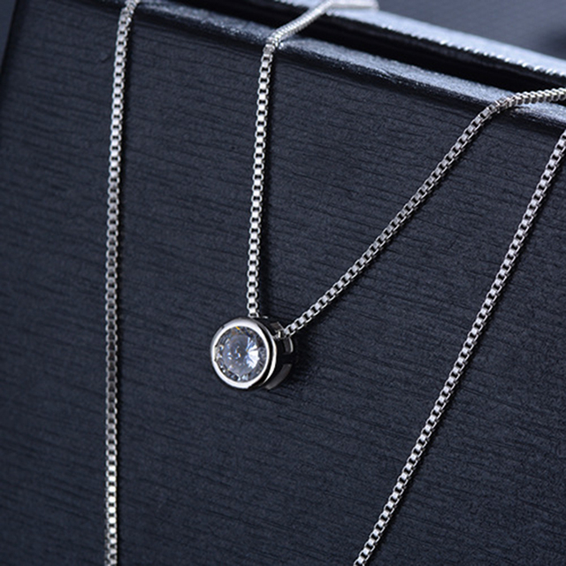 Xiyanike 925 prata esterlina colar dupla camada corrente zircão coração pingentes colares para presente feminino kolye gargantilha 2019 novo