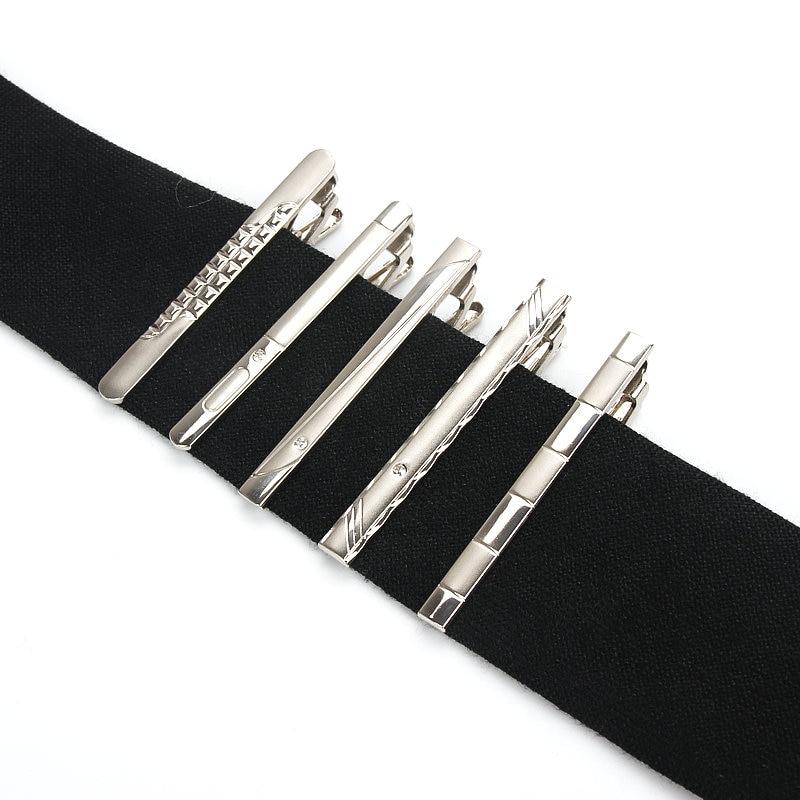 Brand New Simple Metal Silver Tie Clip For Men Wedding Necktie Tie Clasp Clip Gentleman Ties Suits Tie Pin For Mens Gift
