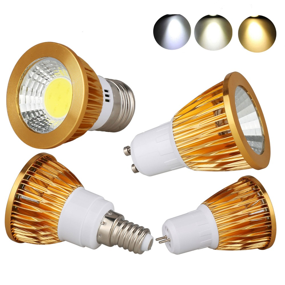 Ultra Bright 9W 12W 15W GU10 MR16 E27 E14 GU5.3 LED Bulb 85-265V DC 12V Led Spotlights Warm/ Natural/Cool White Lamp AC 85-265V