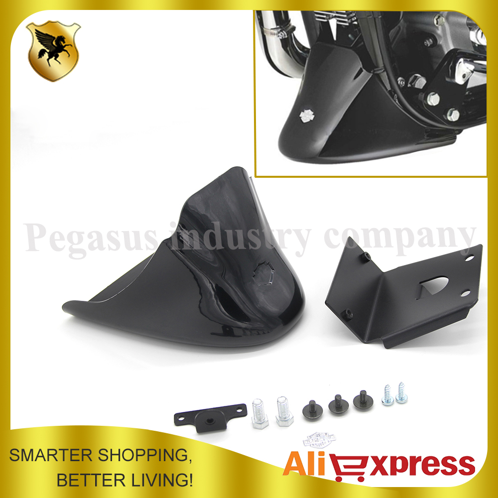 Black Front Bottom Spoiler Mudguard Cover Kit Fits For Harley Sportster 1200 XL Iron 883 2004-2014 04 14 mtsooning timing cover and 1 derby cover for harley davidson xlh 883 sportster 1986 2004 xl 883 sportster custom 1998 2008 883l