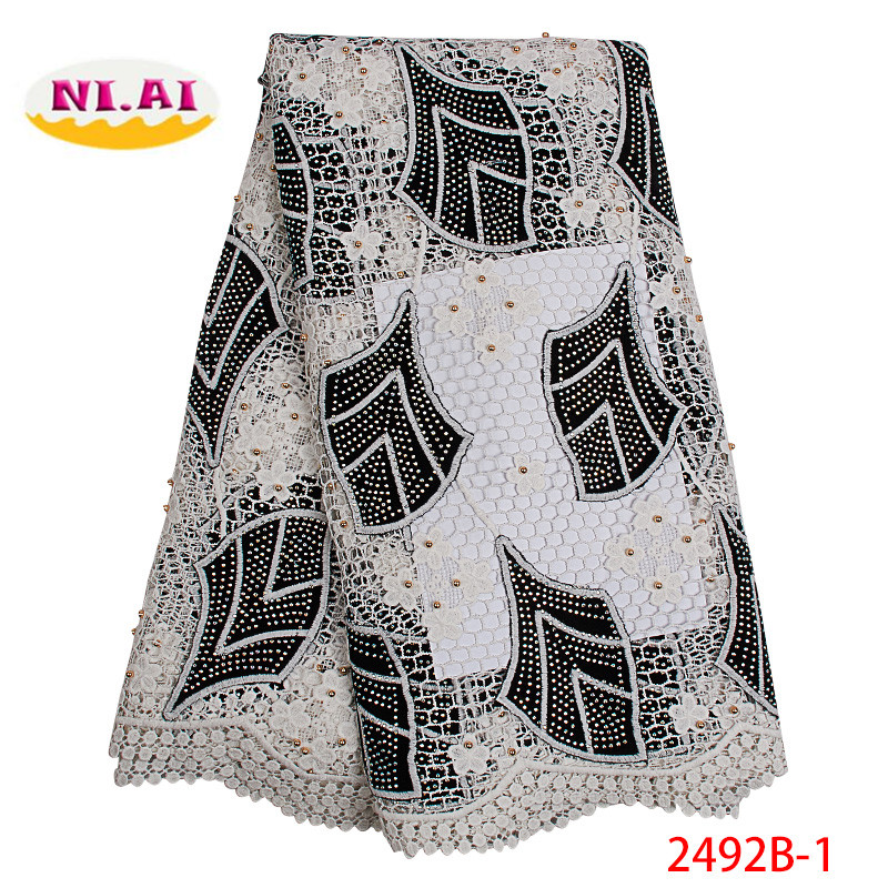 African Lace Fabric Black Color 2019 High Quality Tulle Lace Fabric French Guipure Lace For Wedding
