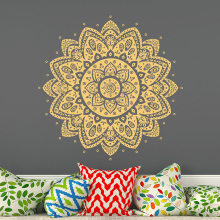 YOYOYU Mandala Vinyl Wall Stickers Lotus Flower Namaste Bohemian Removeable Decal Yoga Studio Bedroom Decoration ZX373 high quality flower fairy shape removeable wall stickers