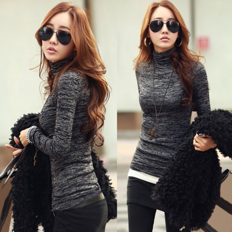 ZANZEA Fashion Pull Femme Women Sweaters 2018 Autumn Turtleneck Long Sleeve Knitted Tops Pullover Casual Slim Jumper Plus Size