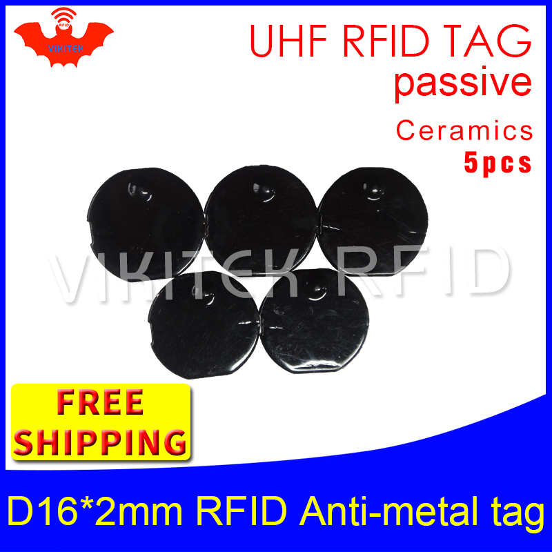 UHF RFID metal tag 915mhz 868mhz Alien Higgs3 EPC 5pcs free shipping D16mm*2mm small circular Ceramics smart passive RFID tags hw v7 020 v2 23 ktag master version k tag hardware v6 070 v2 13 k tag 7 020 ecu programming tool use online no token dhl free