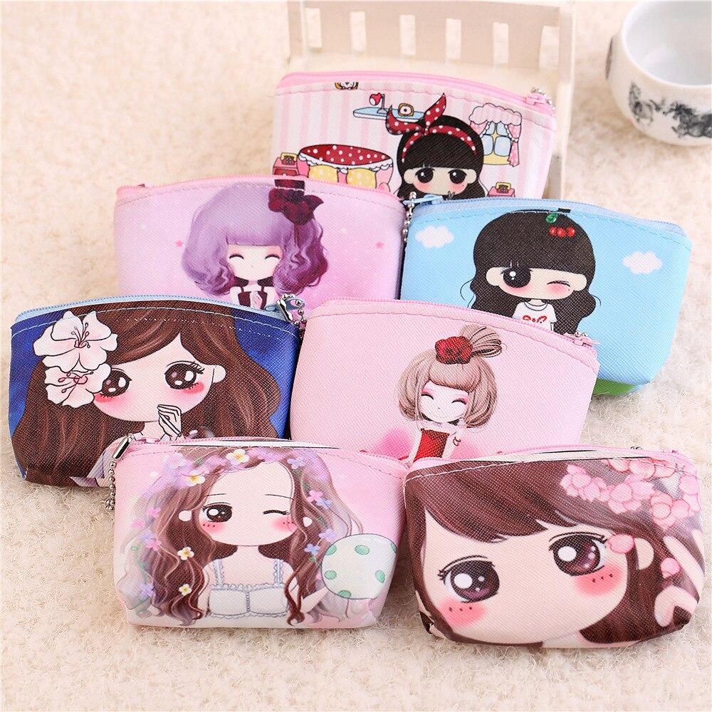 Kawaii cartoon Coin Purse Kawaii Kids Wallet Girls Kids Money Bag Children Party Gift Leather Coin Purses For Female In Stock