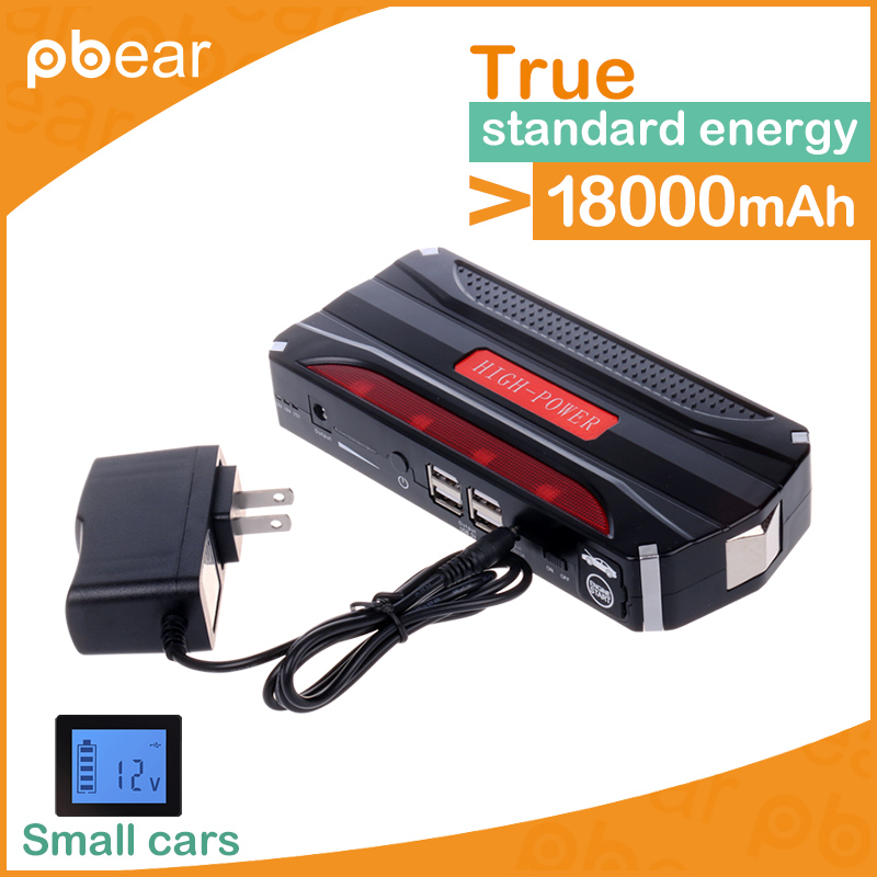 12V Portable Car Jump Starter 18800mAh Car Jumper Booster Power Battery Charger for Mobile Phone Laptop Power Bank emergency купить