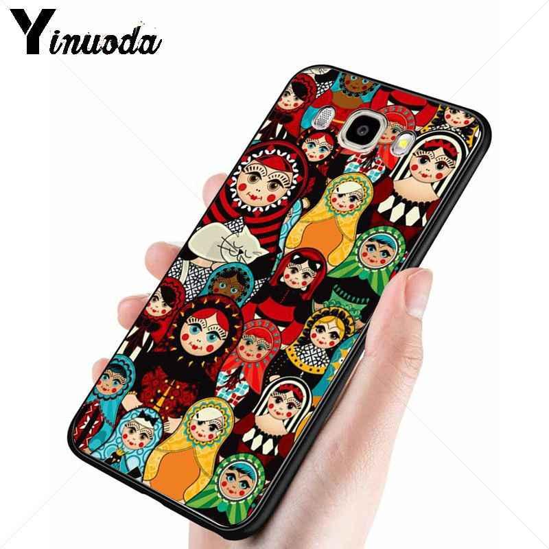 Yinuoda น่ารักตุ๊กตารัสเซีย Matryoshka เคสโทรศัพท์สำหรับ Samsung Galaxy j6plus j7 prime j8 j2 prime j4plus 2018 กรณี