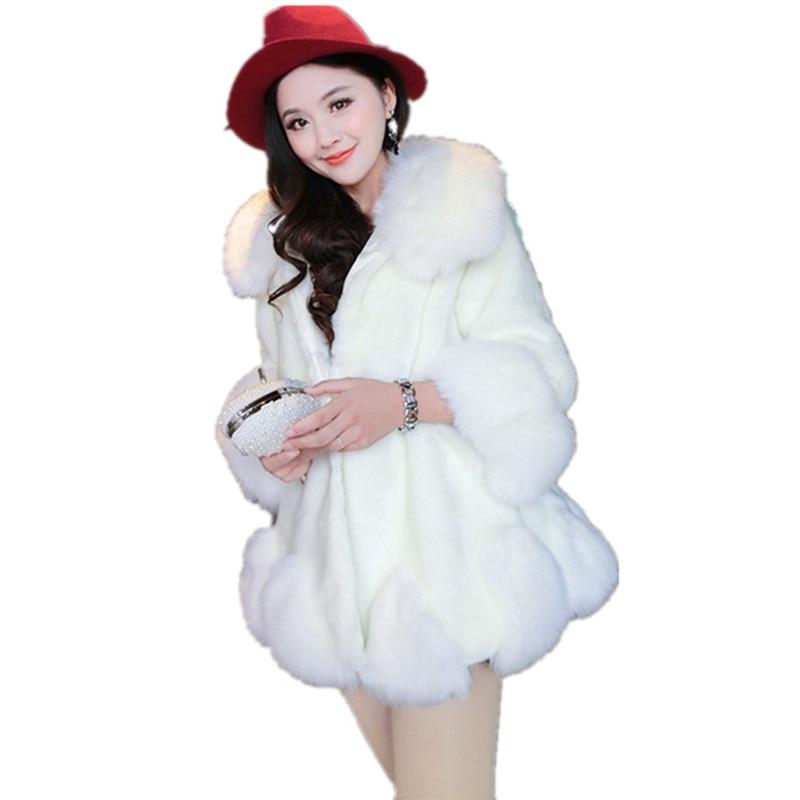 Blanc Et Faux D'hiver L'eau Manteau Haute Z Nouveau Fourrure Pqf4zwfI0