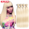 613 Blonde Virgin Hair Straight 4 Bundles Honey Blonde Brazilian Hair Brazilian Virgin Hair Straight 7a Human Hair Extensions