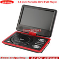 2016 NEW 9.8 inch Portable DVD EVD Player TV VCD CD MP3/4 SD USB GAME Mobile TV free shipping