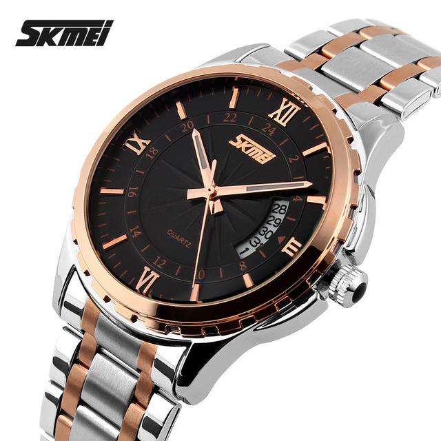 2016 Top relógios homens marca de luxo Skmei relógio de quartzo homens de aço completa sports relógios moda casual relógios de pulso relogio masculino