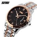 2016 Top relojes hombres lujo de la marca Skmei hombres reloj de cuarzo de acero lleno deportes relojes moda casual relojes de pulsera relogio masculino