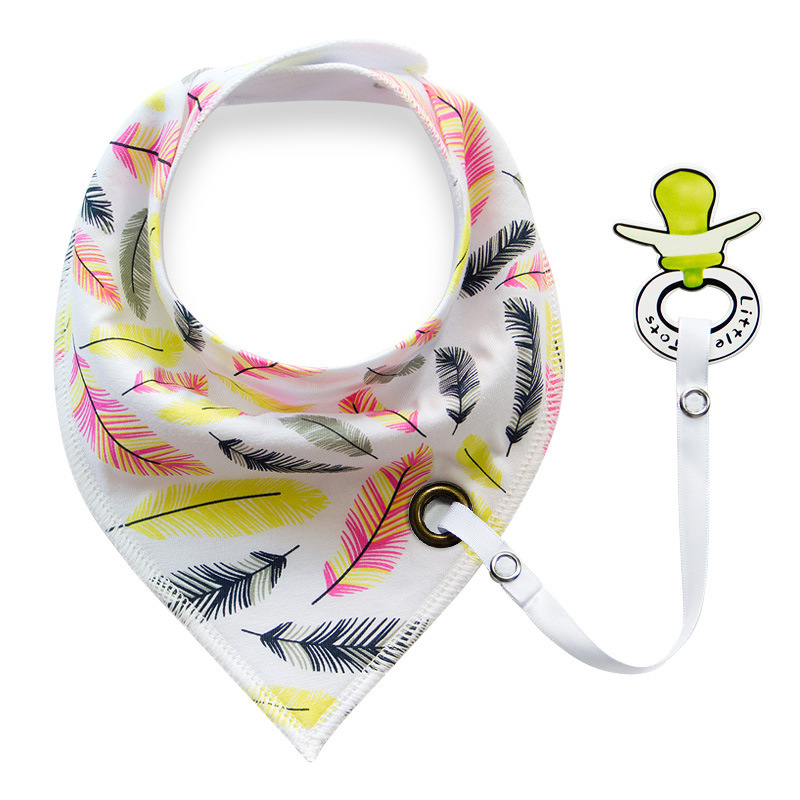 Bandana more styles new fashion can add pacifier unique cartoon triangle cotton towel Baby Bib slobber Babador Infant bibs