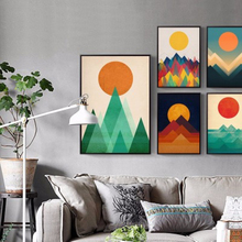 Modern Abstract Sea Sun Sunrise Canvas A4 Art Wall Print Poster Nordic Style Landscape Pictures Living Room Decor Painting