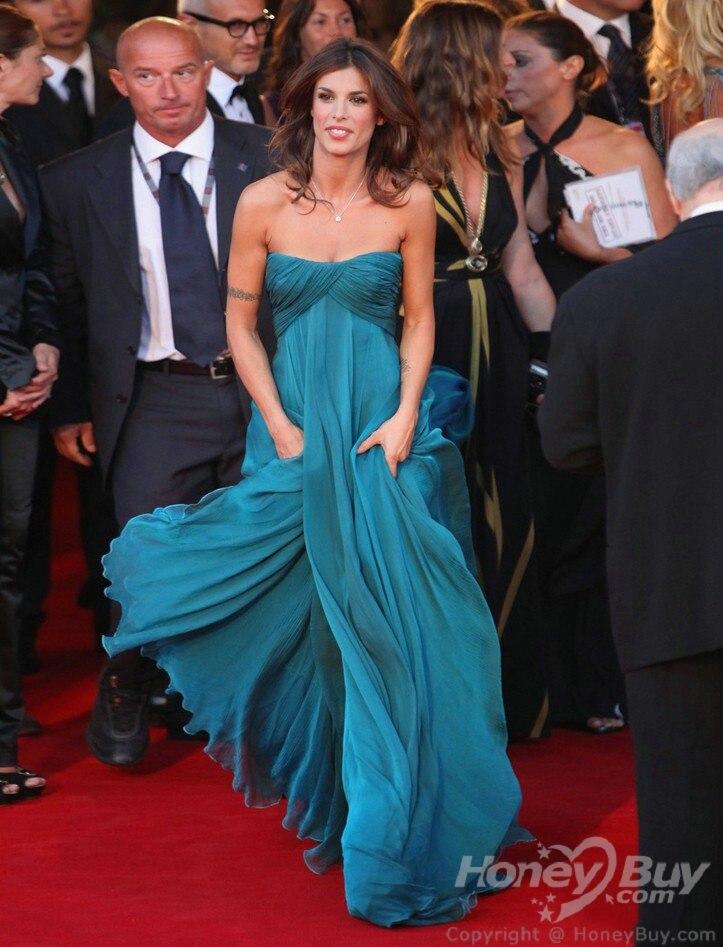 Nouveauté charmante célébrité robes Elisabetta Canalis pour venise Film Festival célébrité robe robe de soirée