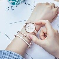 Rose gold/Gold Luxury Alloy Quartz Watch Waterproof Women Watch Bling Crystal Water Resistant Wristwatch Reloj De Mujer Free Box