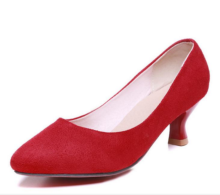 Red Kitten Heel Shoes Promotion-Shop for Promotional Red Kitten ...