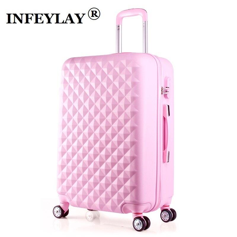 20/24 pouces ABS fille étudiants spinner boîtier de chariot enfant voyage affaires bagages combinaison serrure valise femmes embarquement boîte