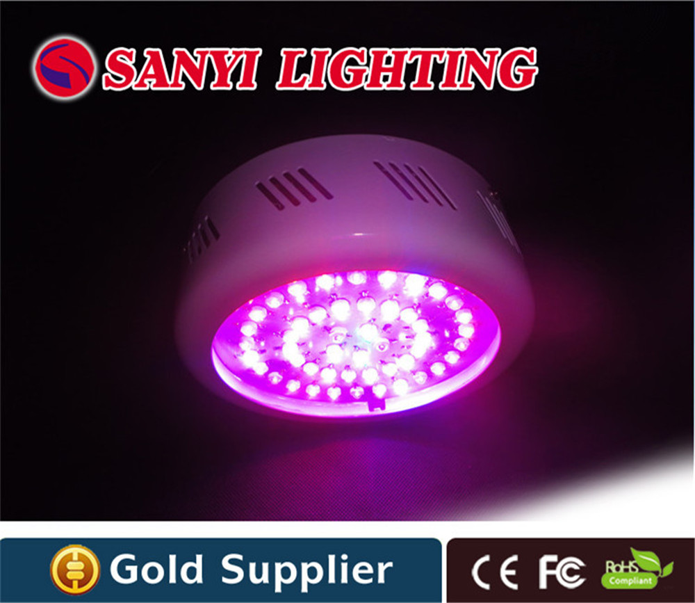 Wholesale 147W LED Grow Light 10 Spectrums IR Indoor Hydroponic System UFO 49*3 W LED grow light free shipping to Russia