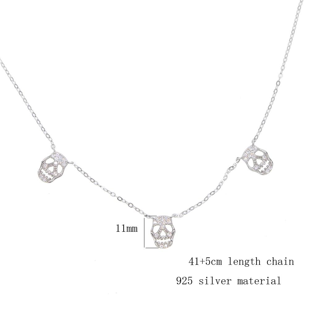 silver necklace 41+5cm Y (7)