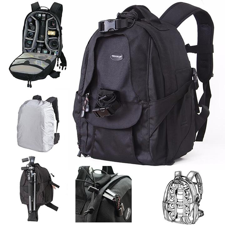 Top Quality TREKGEAR Mini Trekker AW DSLR Camera Backpack Travel Rucksack Lens case Bag With Rain Cover for Canon Nikon Gopro